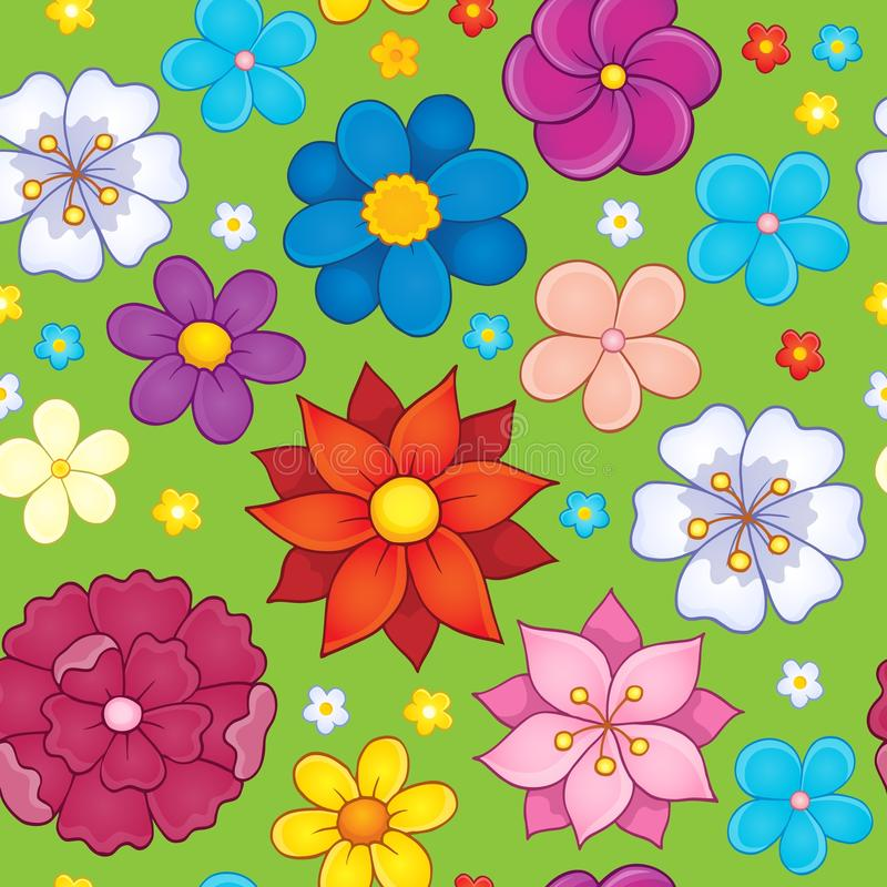 Seamless background flower theme 5 stock illustration