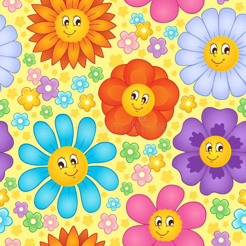 Seamless background flower topic