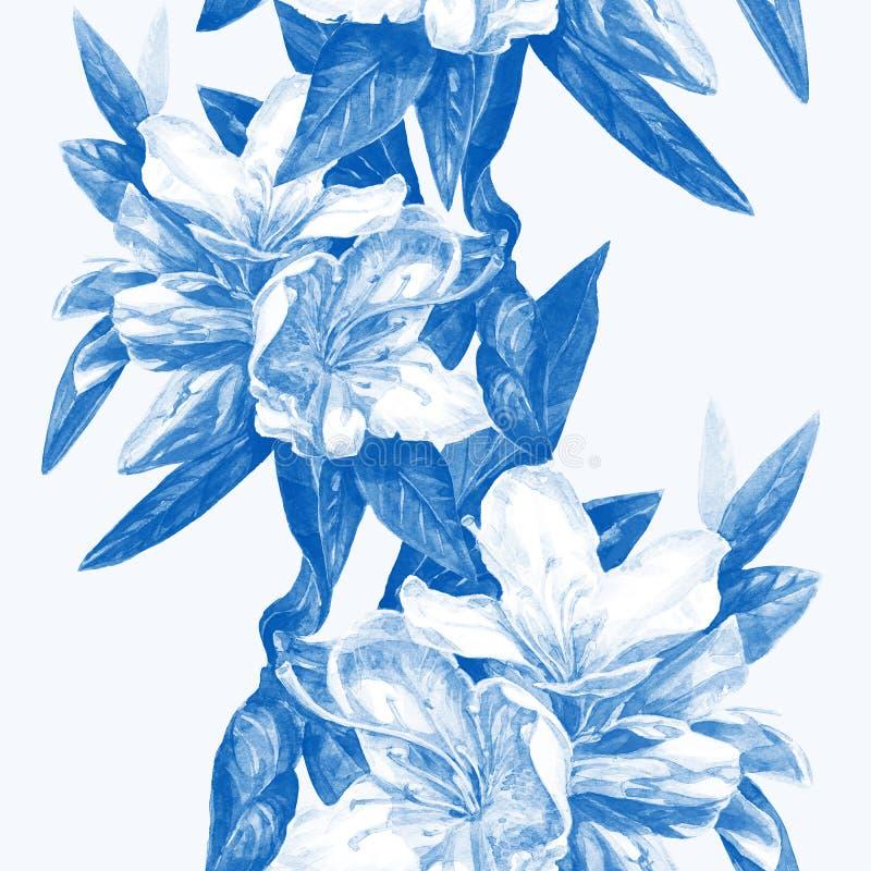 Seamless background of flowers azaleas stock photography