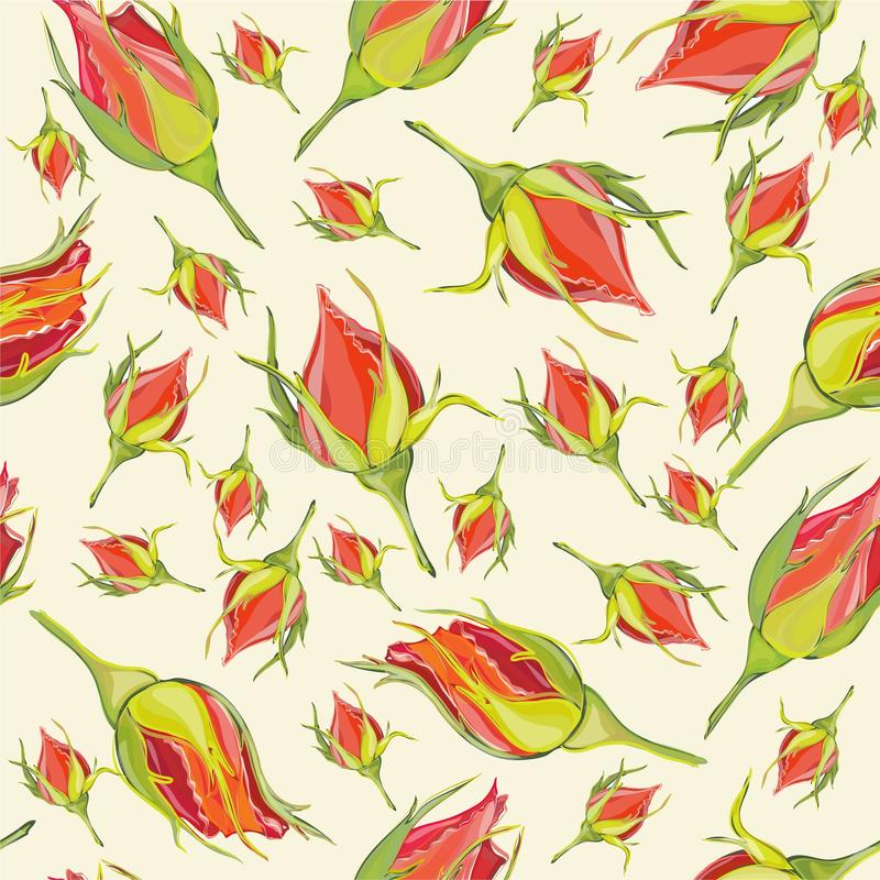 Seamless background from a flowers ornament, fashi vector illustration