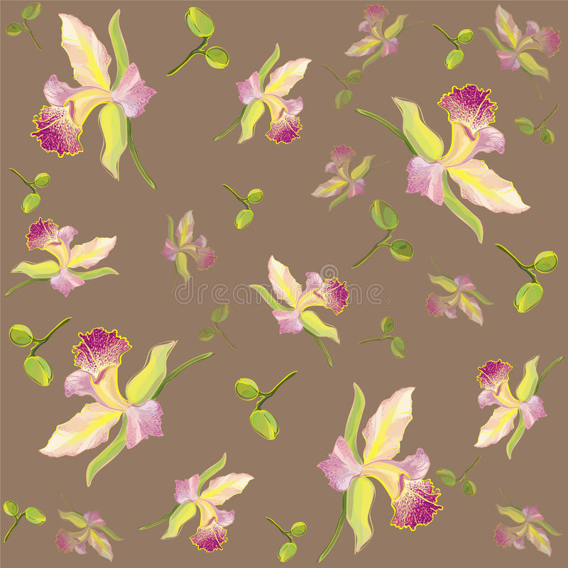 Seamless background from a flowers ornament, fashionable modern wallpaper or textile royalty free illustration