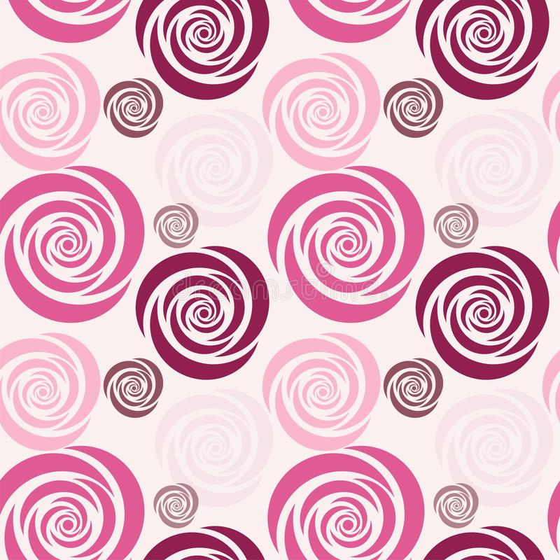 Seamless background with flowers royalty free illustration