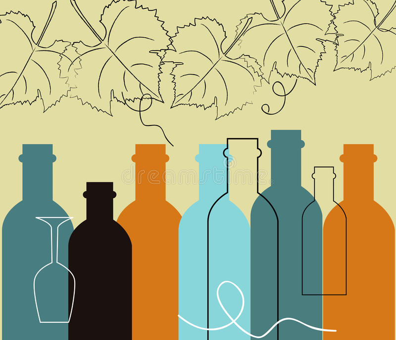 Seamless background food and liquor bottles. Seamless background with liquor bottles stock illustration