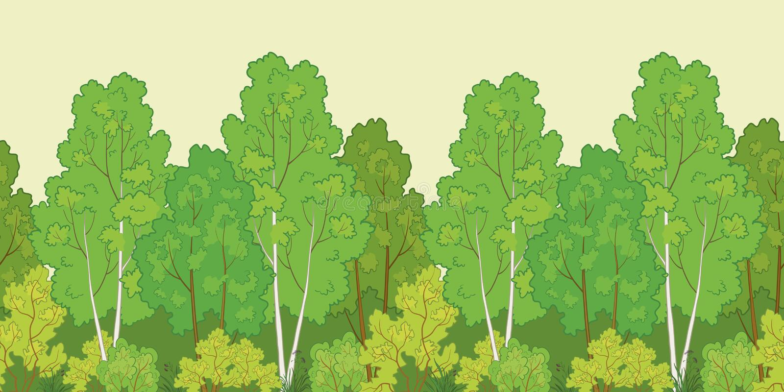 Seamless background, forest vector illustration