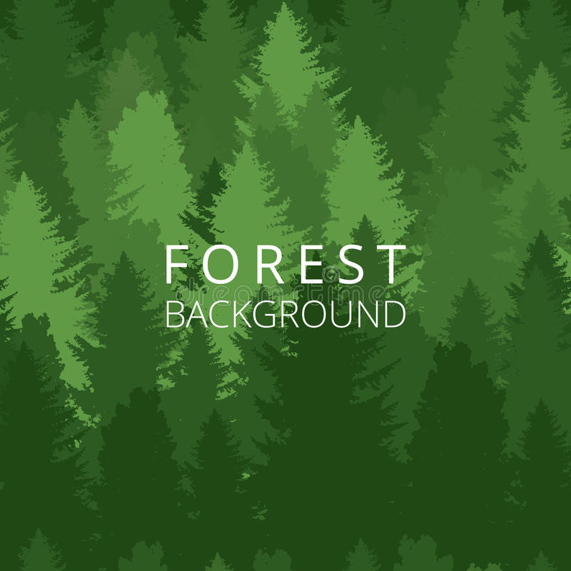 Seamless background, forest with trees silhouettes. vector illustration