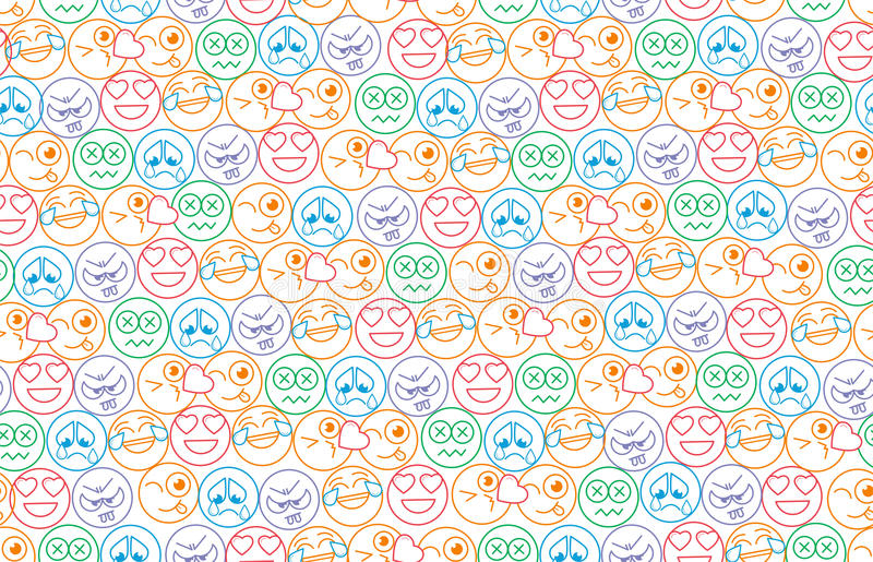 Seamless background in the form of an smiles vector illustration