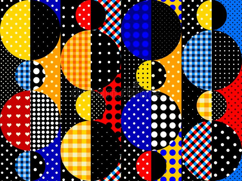 Geometric abstract pattern. Seamless background. Geometric abstract pattern in a patchwork style stock illustration