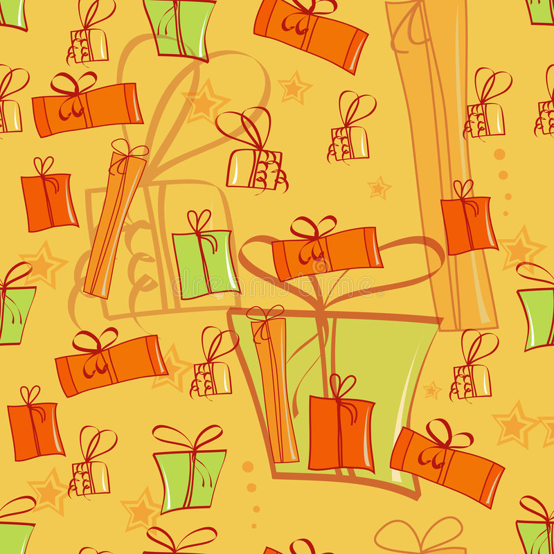 Download Seamless Background With Gift Boxes Stock Vector - Image: 7428674