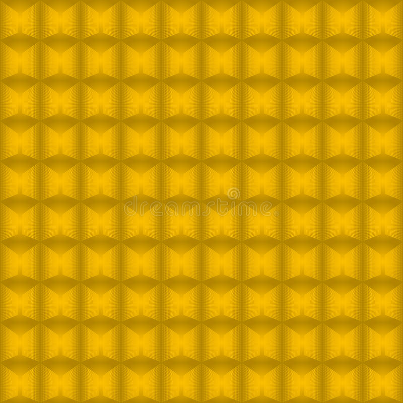Seamless background from gold blocks. royalty free illustration