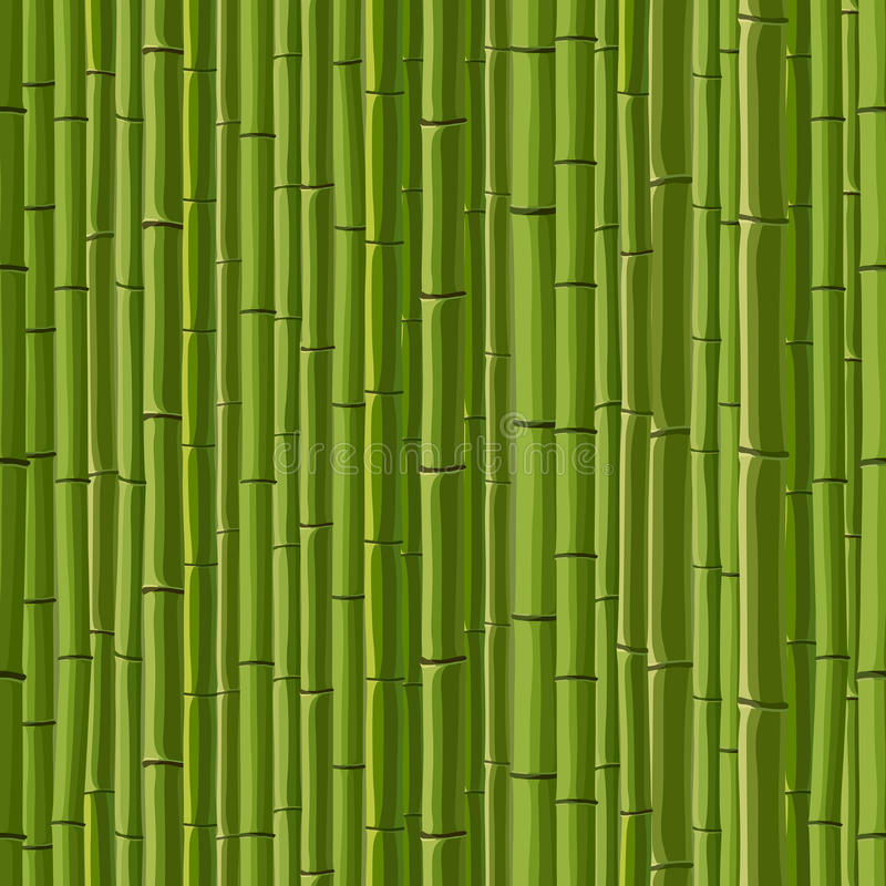 Seamless background of green wall bamboo. vector illustration