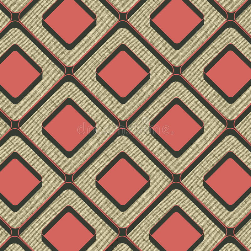 Seamless background with grunge. Seamless geometrical pattern may be useful for print, fabric, tapestry, craftsmanship, scrap-booking etc. Vector illustration stock illustration