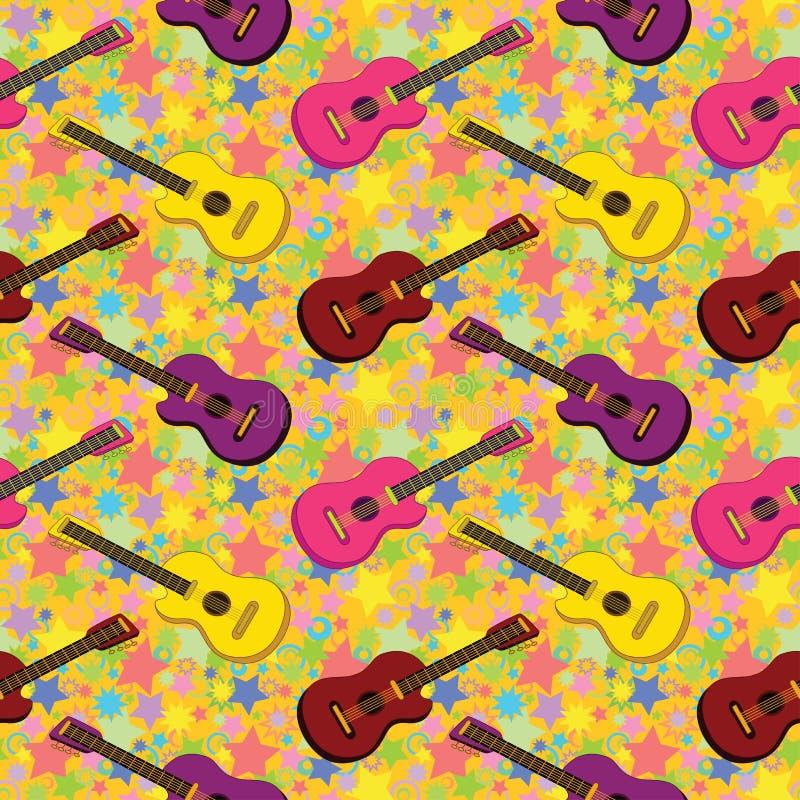Seamless background, guitars royalty free illustration