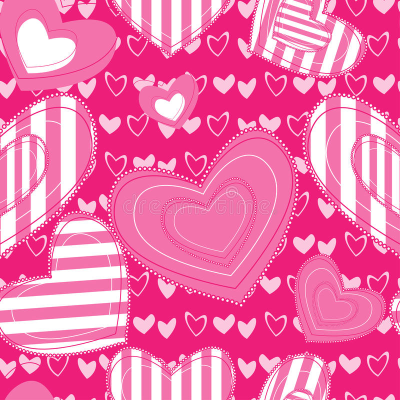Download Seamless Background With Hearts Stock Vector - Illustration of illustration, pink: 21797448