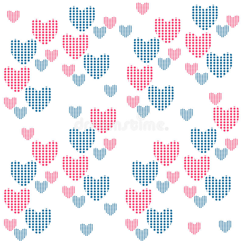 Download Seamless Background With Hearts Stock Vector - Illustration: 27665509