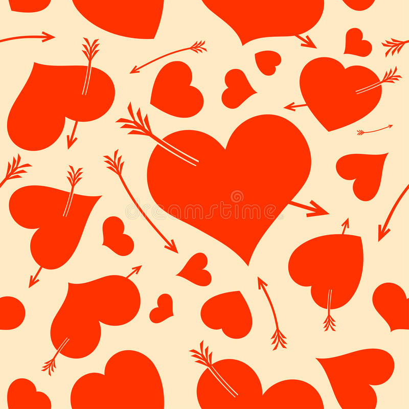 Download Seamless Background With Hearts. Stock Vector - Illustration: 28520428