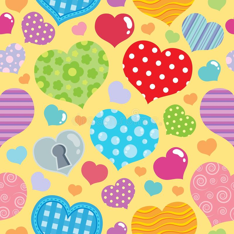 Seamless background with hearts 8 royalty free illustration