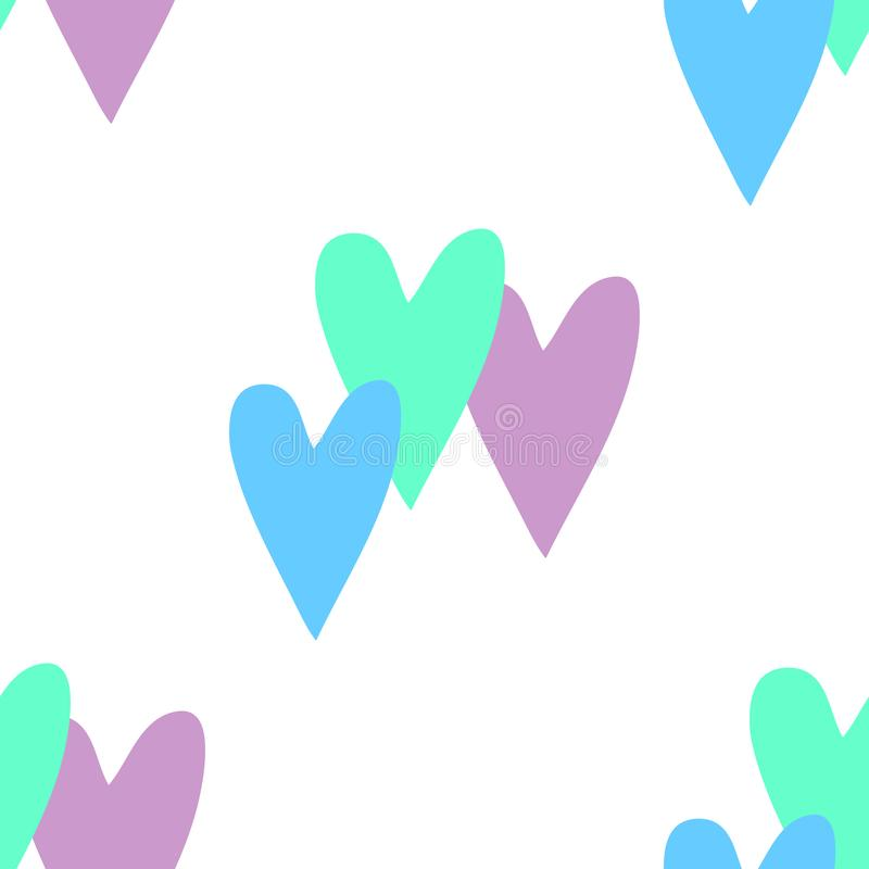 Seamless background with hearts. Design element for poster, banner, label, web, advertisement. Seamless background with colorful hearts. Design element for stock illustration