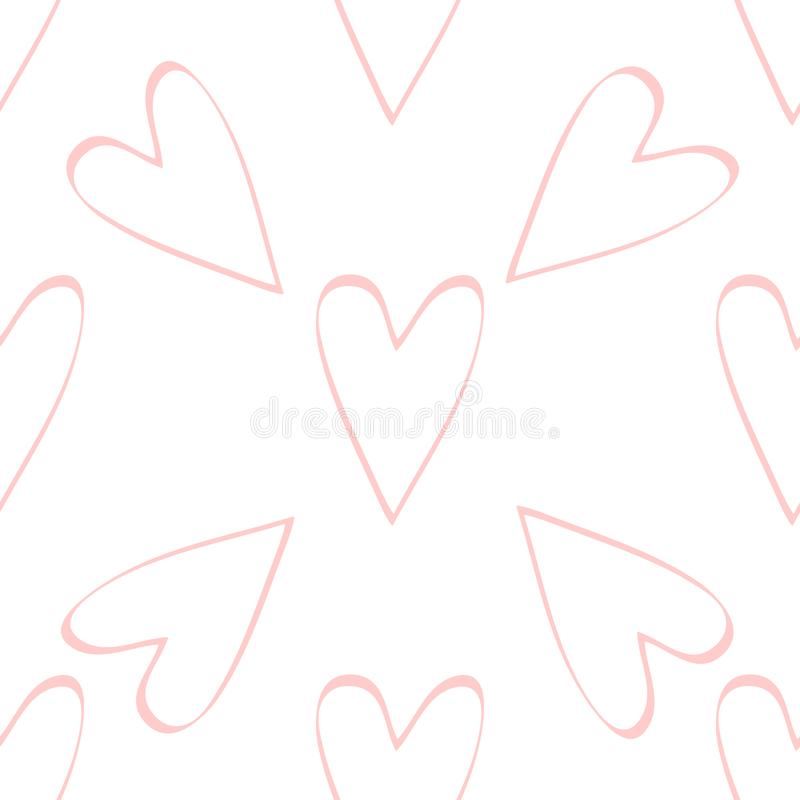 Seamless background with hearts. Design element for poster, banner, label, web, advertisement. Seamless background with hearts. Design element for Valentine&# vector illustration