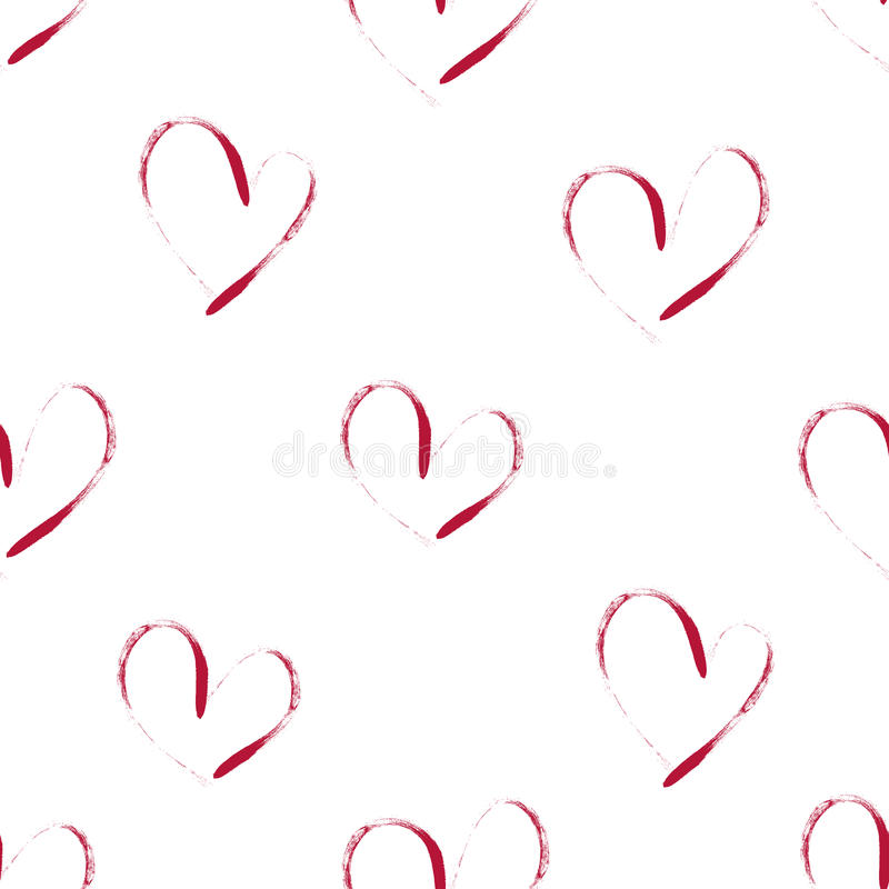 Seamless background of hearts. Seamless pattern of pink hearts on white background vector illustration
