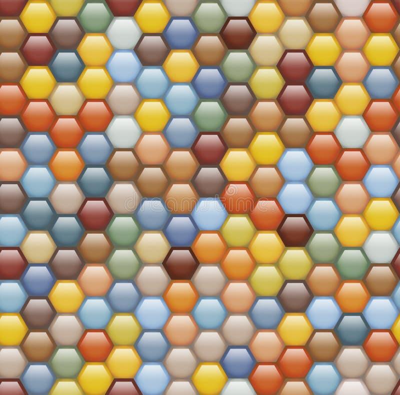 Seamless background of hexagonal honeycombs. stock illustration