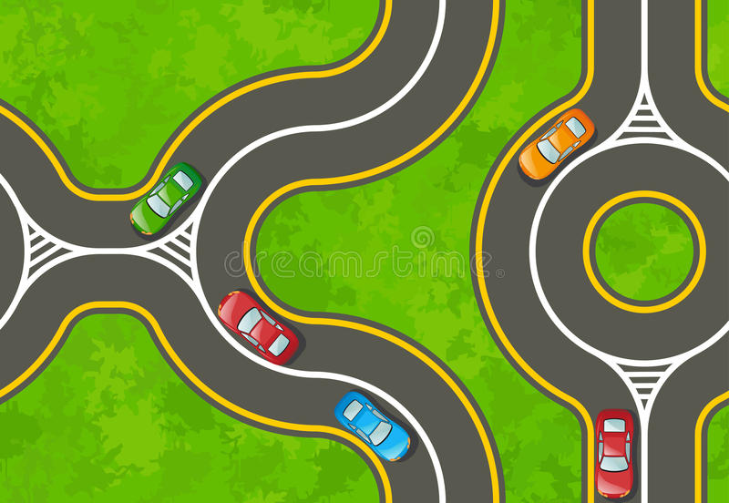 Download Seamless Background With A Highway Stock Vector - Image: 19267258