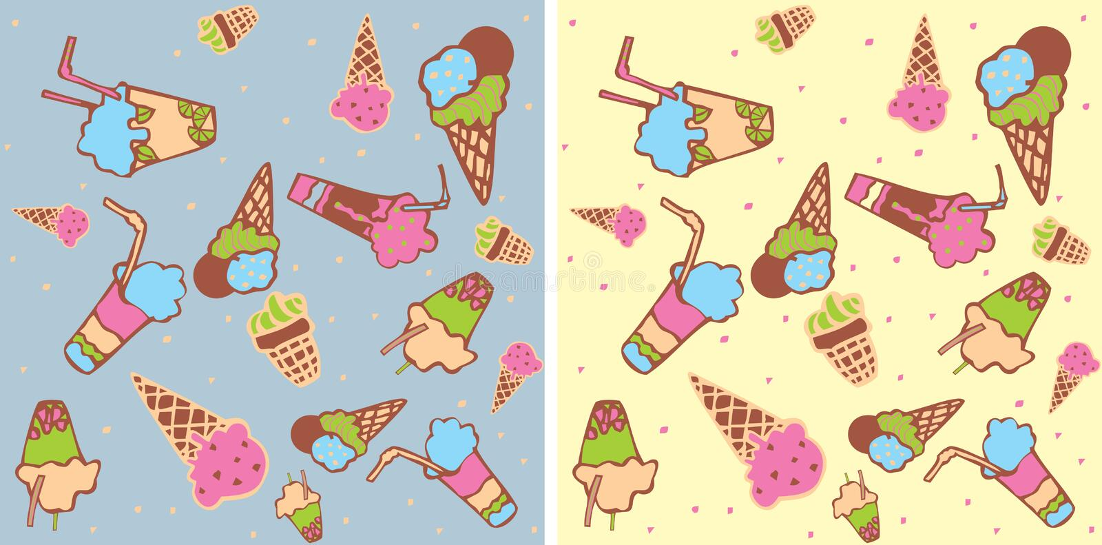 Download Seamless Background With Ice-cream Stock Vector - Image: 23116608