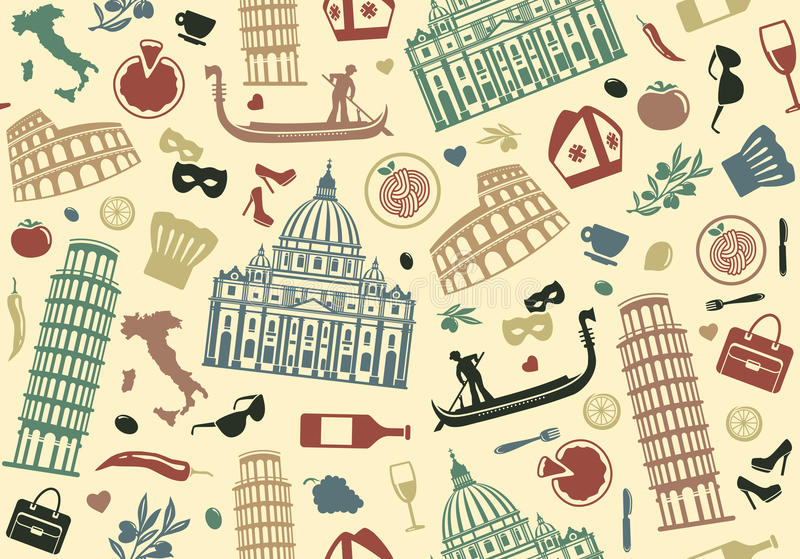 Seamless background of Italy royalty free illustration
