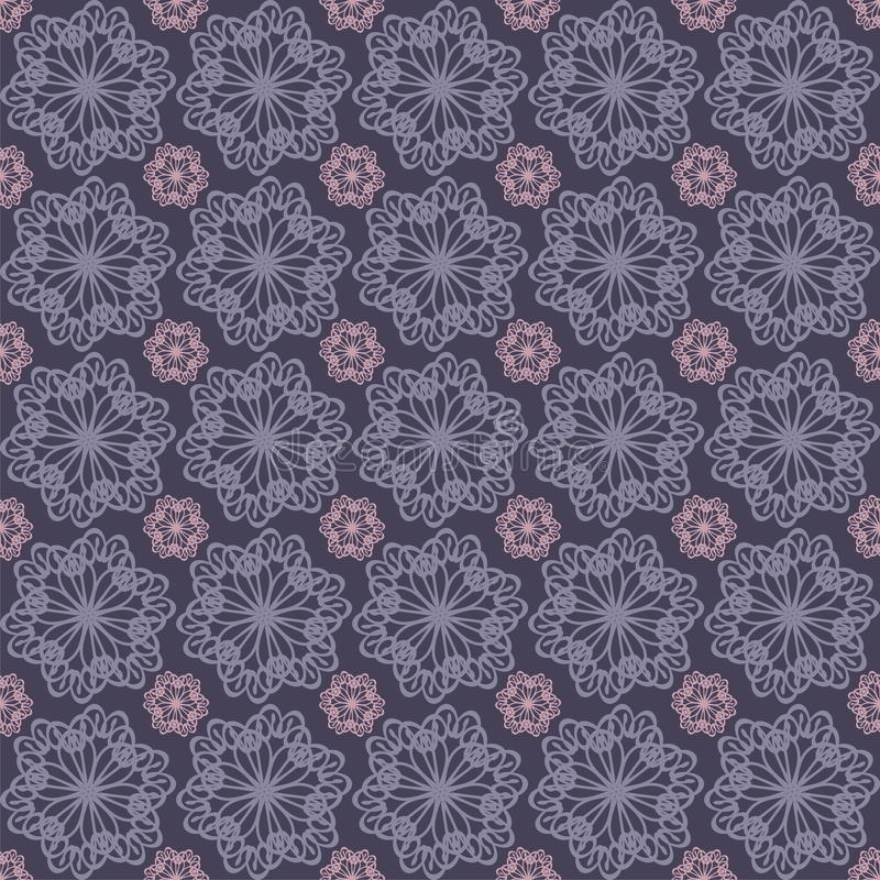 seamless background with lace flowers royalty free illustration