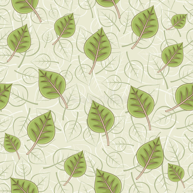 Seamless background. Leafs. Vector illustration. Seamless background. Leafs stock illustration