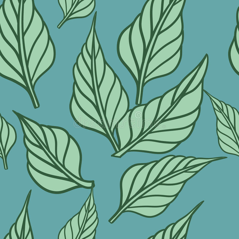 Seamless background with leafs. Vector illustration/ Eps 8 stock illustration
