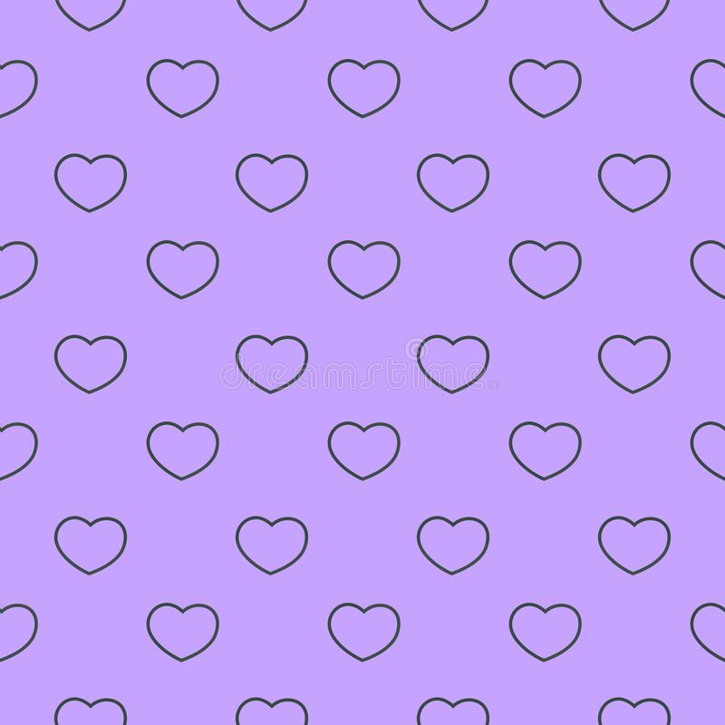 Seamless background with line drawing hearts on neutral background texture. can be used for wrapping paper, wallpaper, scrap. Booking stock illustration