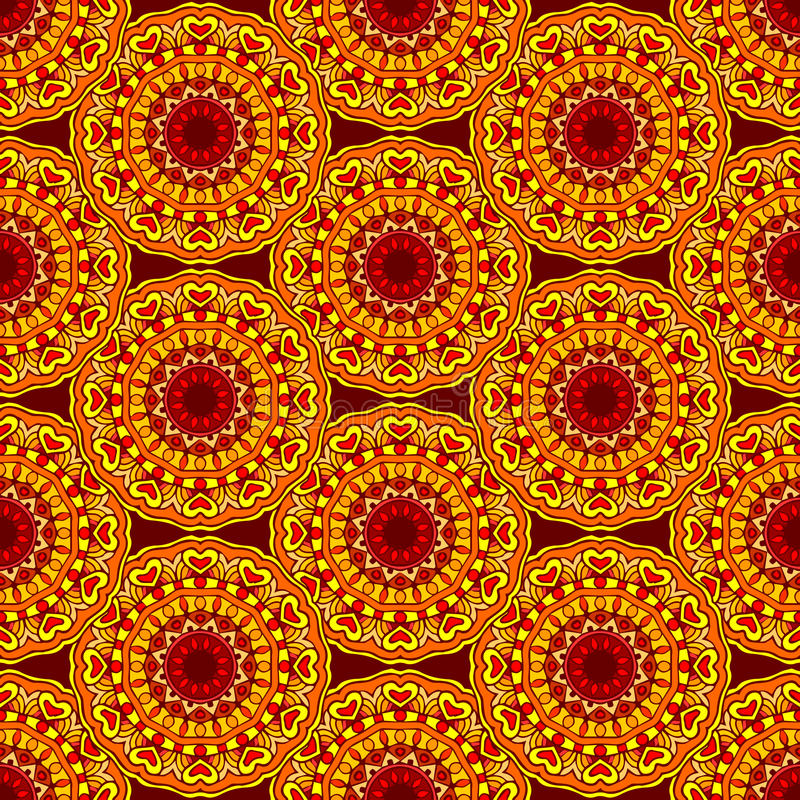 Seamless background mandala. Vector seamless pattern background mandala ornament indian african vector illustration