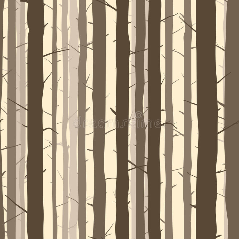 Seamless background with many tree trunks. vector illustration