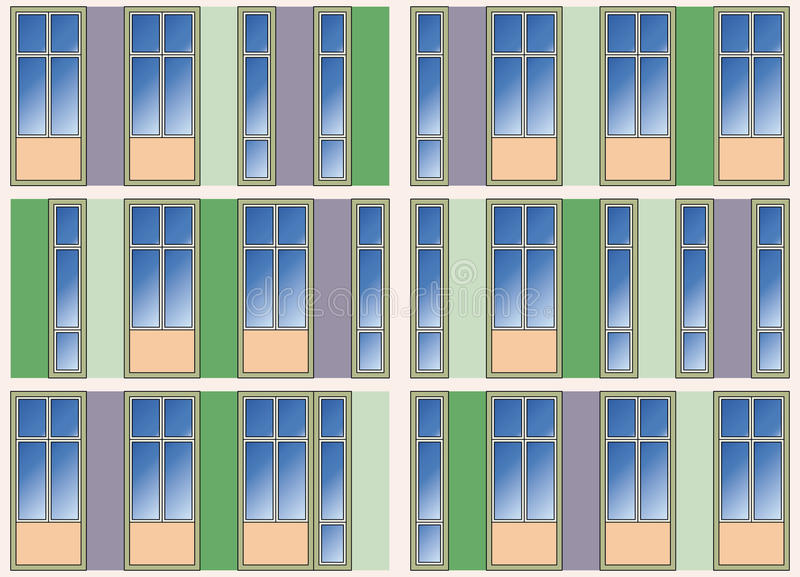 Seamless Background Of Modern Building Facade Stock Images
