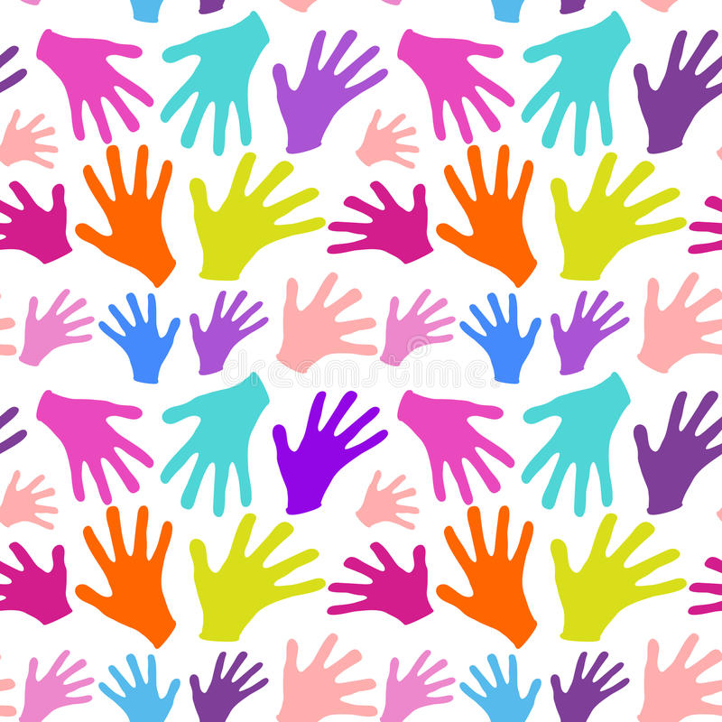 Download Seamless Background Multicolored Hands Stock Vector - Illustration of partnership, peace: 41082512
