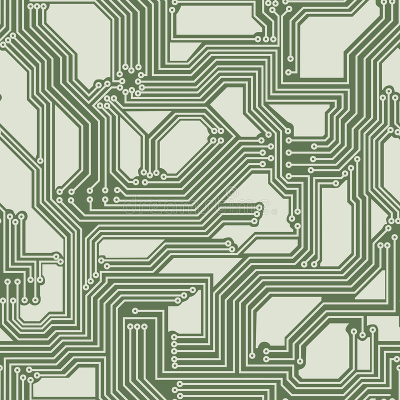 Free Seamless Background Of Electrical Circuit Board. Stock Photography - 31103932