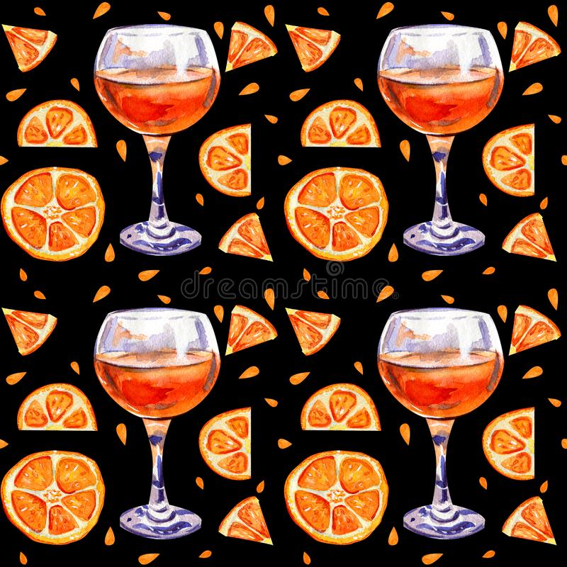 Seamless background with orange juice royalty free stock images