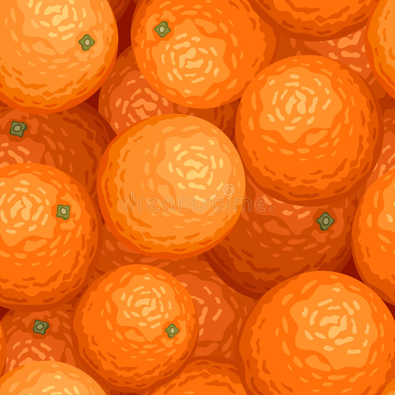 Seamless background with oranges. Vector illustration of seamless background with ripe oranges vector illustration