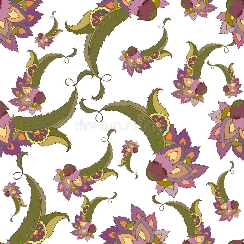Seamless background from a paisley ornament, fashi vector illustration