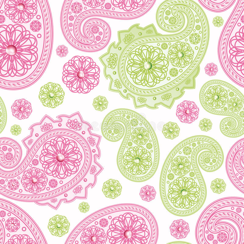 Seamless Background with paisleys. stock photo