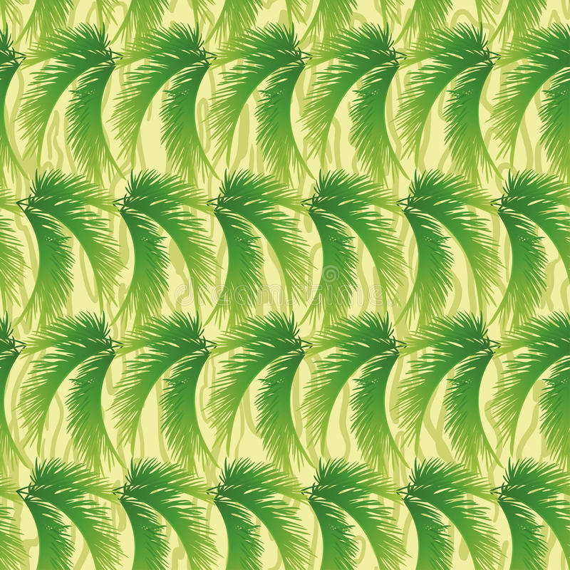 Seamless background, palm leaves. Seamless background, abstract pattern, green branches with leaves of palm trees stock illustration