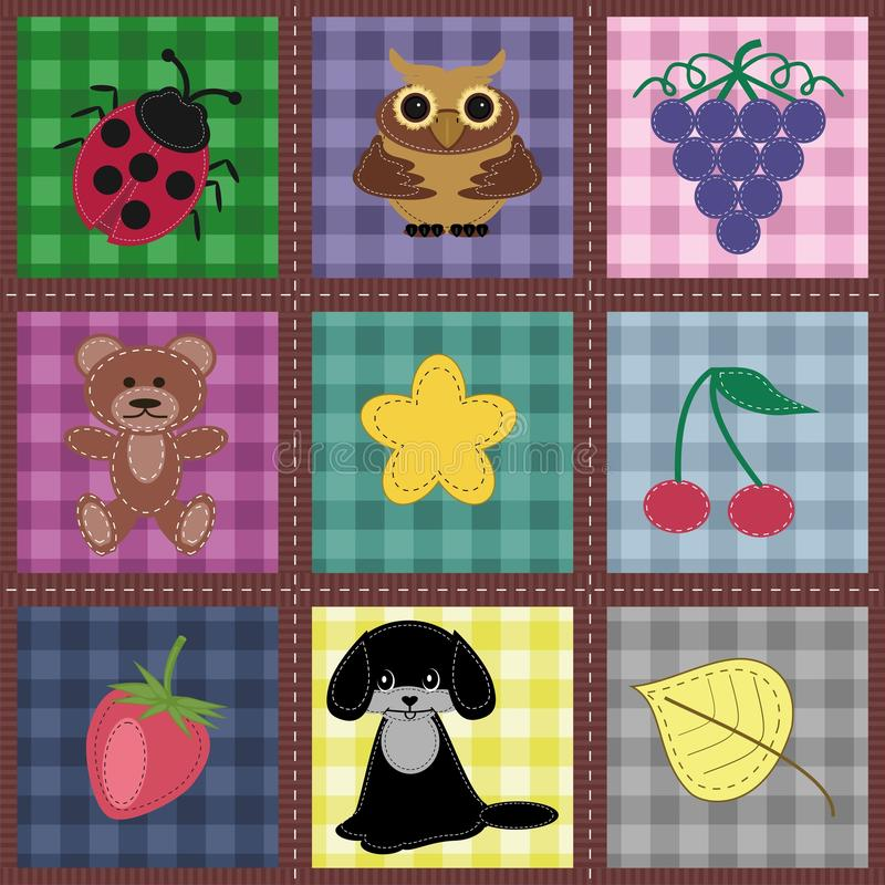 Download Seamless Background With Patchwork Stock Illustration - Image: 24134517