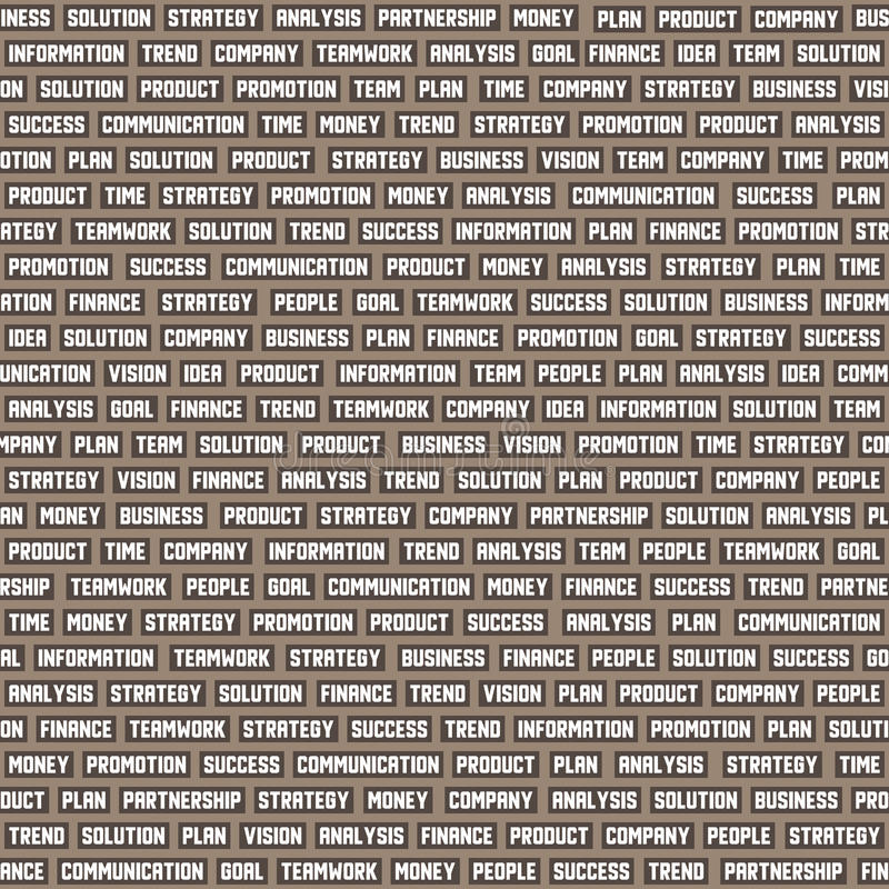 Seamless background pattern with business keywords