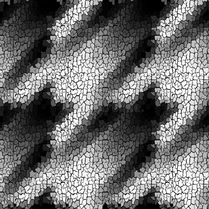 Seamless grunge abstract square pattern. Paint grunge cracks. Seamless background pattern. Crackled grunge vintage mandala Vector image vector illustration