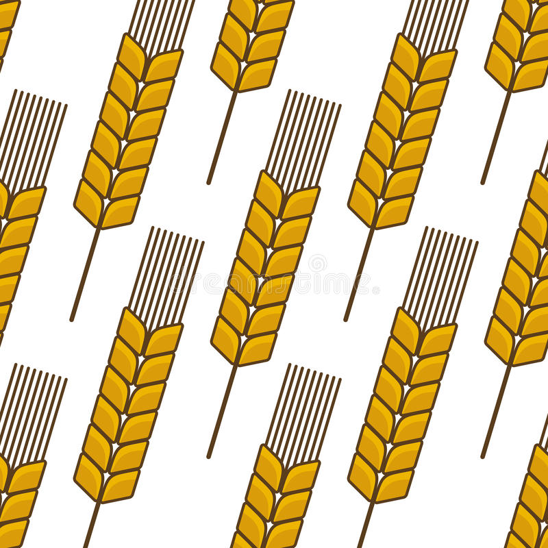 Download Seamless Background Pattern Of An Ear Of Wheat Stock Vector - Image: 39576745