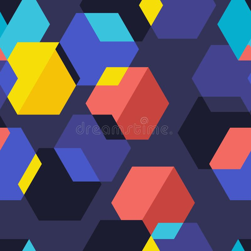 Seamless background pattern geometric graphic. Vector illustrat royalty free illustration