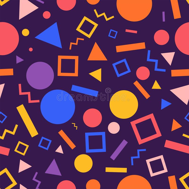 Seamless background pattern geometric graphic. Vector illustrat vector illustration