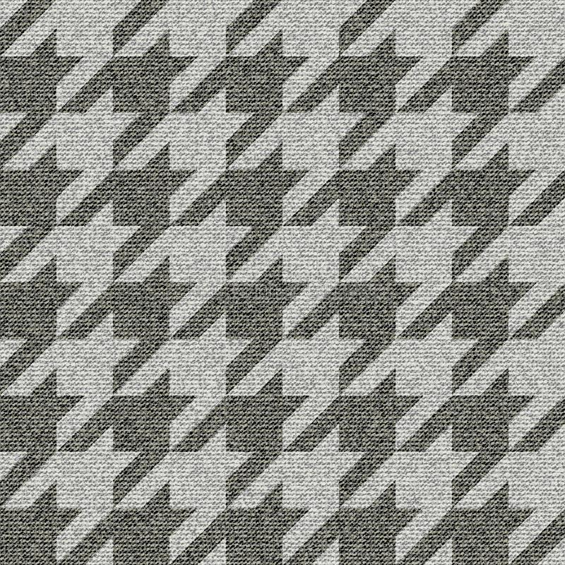 Geometrical patchwork pattern. Seamless background pattern. Geometrical Hounds-tooth pattern with imitation of a fabric texture vector illustration
