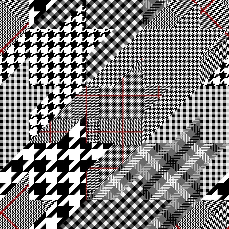 Geometrical patchwork pattern vector illustration
