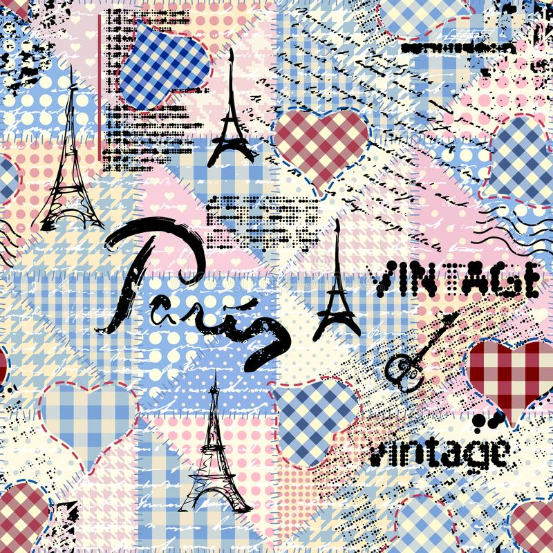 Vintage grunge pattern stock illustration